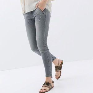ZARA Moto Denim Skinny Jeans